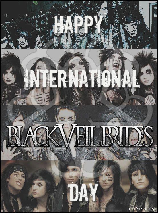 Happy International Black Veil Brides Day Black Veil Brides Black Viel Brides Black Veil
