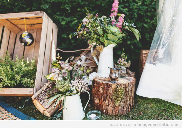 Idees-Deco-Mariage-Jardin-Vintage-Naturel | Wianki I Inspiracje