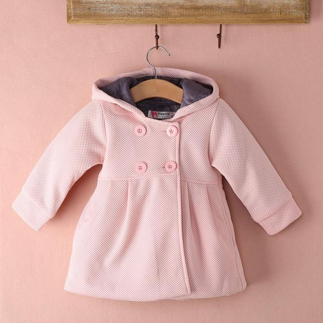 c38e4be7e710 Autumn Winter Baby Girl Toddler Warm Fleece Winter Double-breasted Snow  Jacket Suit Clothes Pink