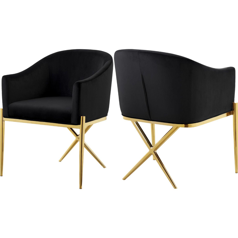 Meridian Furniture 763BlackC Xavier Dining Chair Black