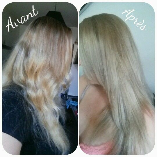Avant Apres Coloration Garnier Belle Color Blond Cendré Naturel