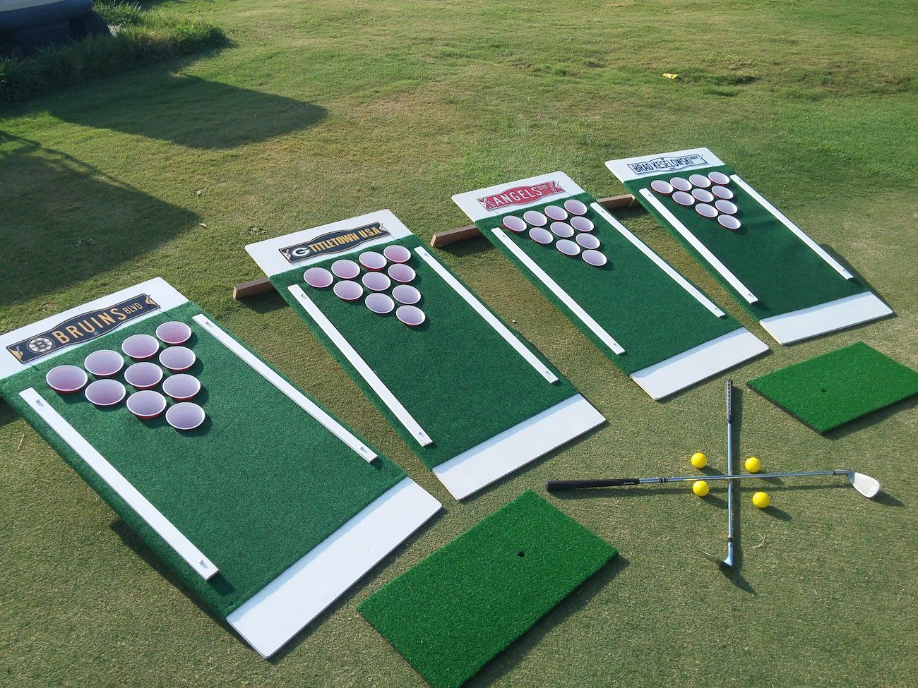 Beer Pong Golf Drinking Game   Jeux faits maison, Jeux en bois ...