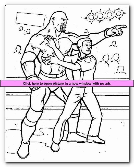 Wrestlers 4 Printable Wrestling WWE Coloring Pages Kids