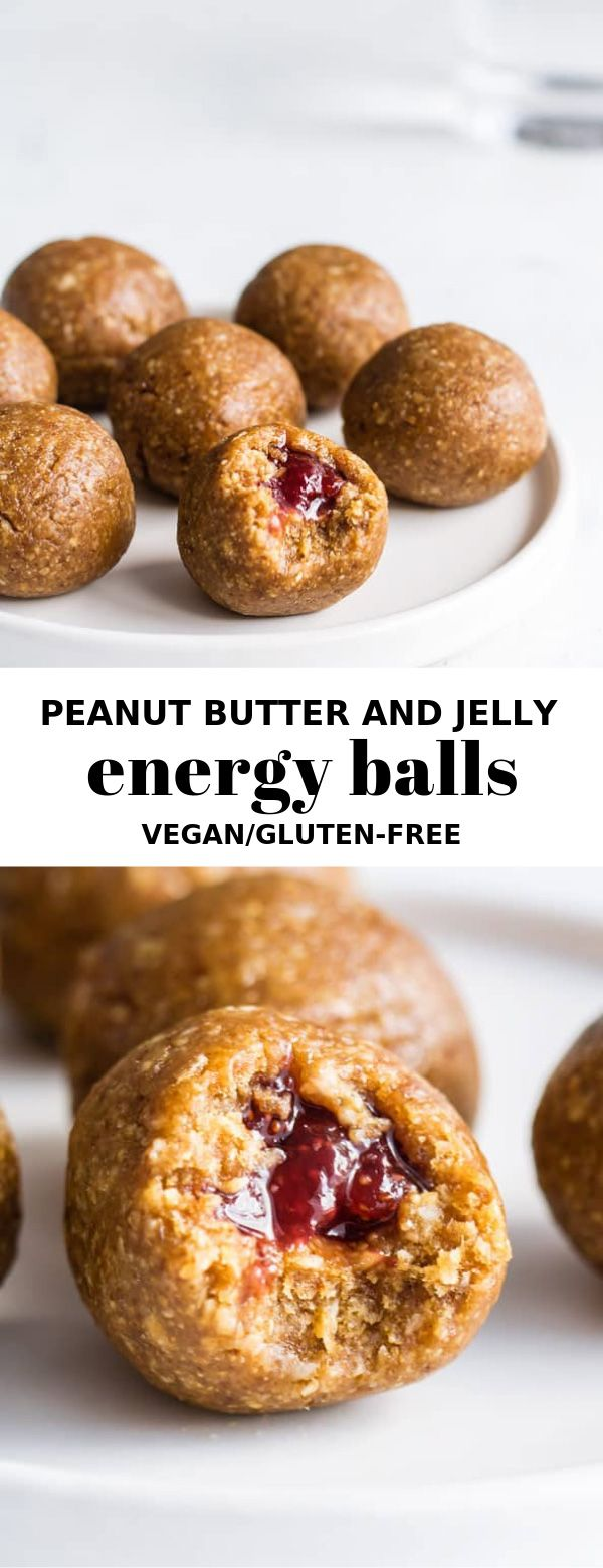 Peanut butter and jelly energy balls - Choosing Chia
