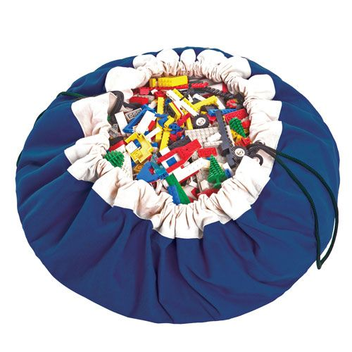 sac de rangement tapis de jeu en coton play and go bleu. Black Bedroom Furniture Sets. Home Design Ideas
