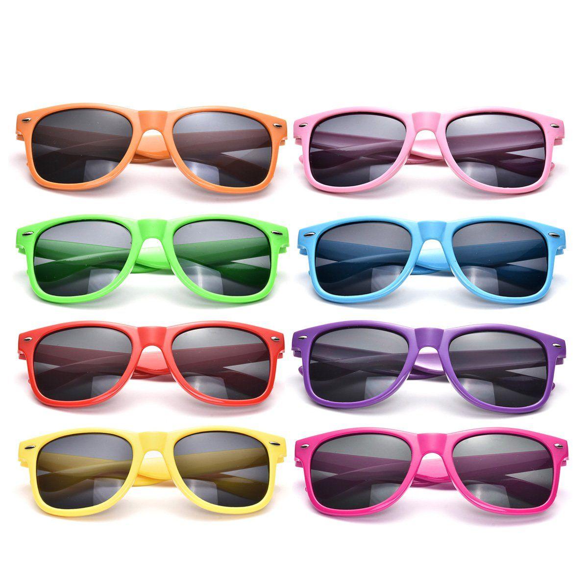 Neon Colors Party Favor Supplies Unisex Sunglasses Pack of