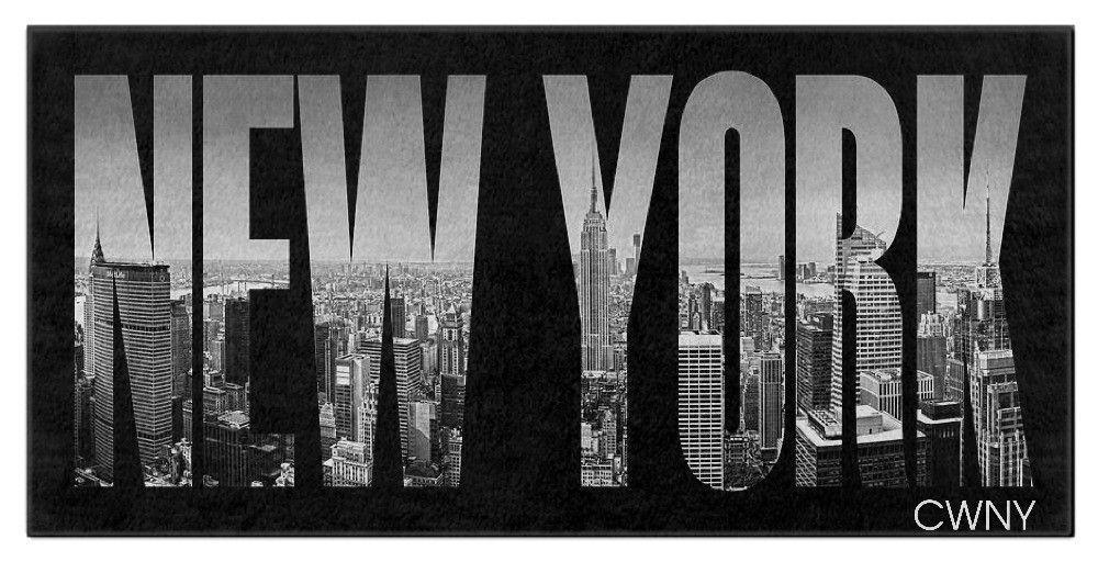 "NEW YORK- ""CWNY"" Bath Towel"