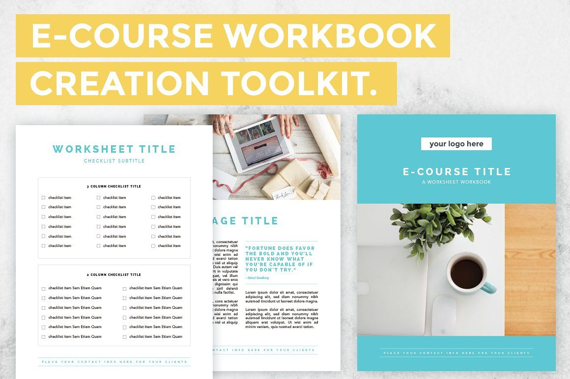 E Course Workbook Creation Toolkit