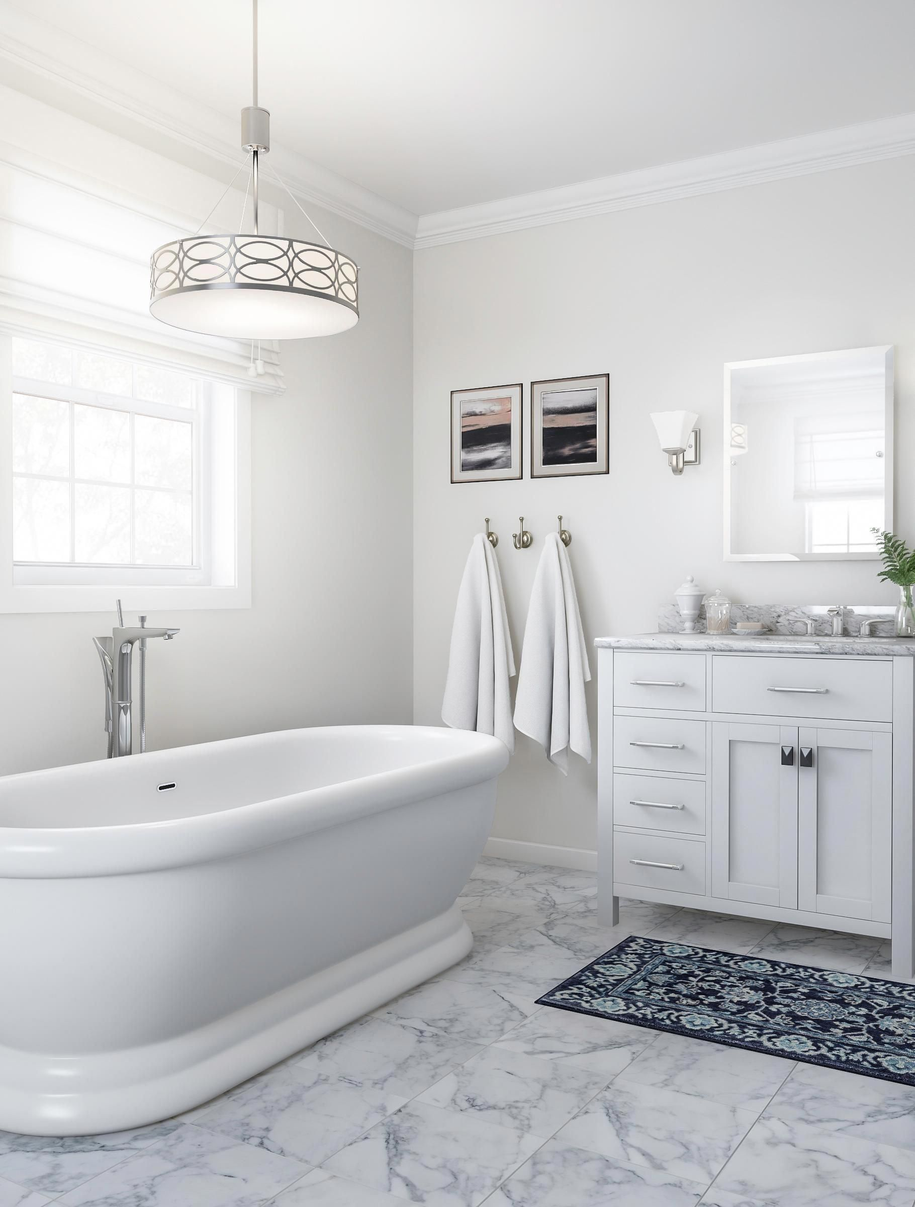 plan for white marble and brushed nickel your bathroom on bathroom renovation ideas white id=89432