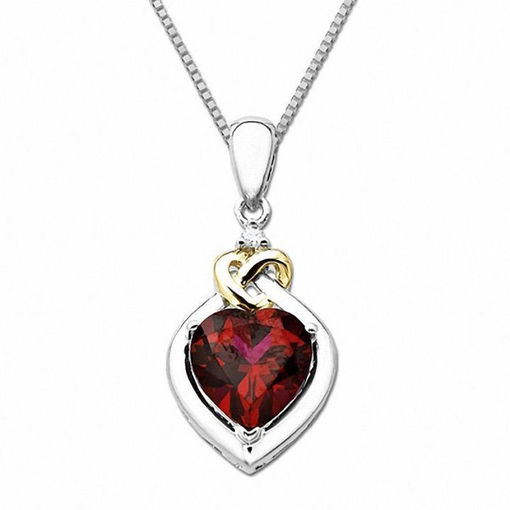Zales Pear-Shaped Lab-Created Ruby and Diamond Accent Butterfly Pendant in Sterling Silver I7myJt
