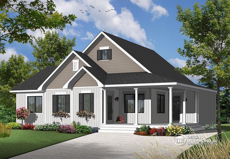 Détail du plan de Maison unifamiliale W3108-V3 maison Pinterest