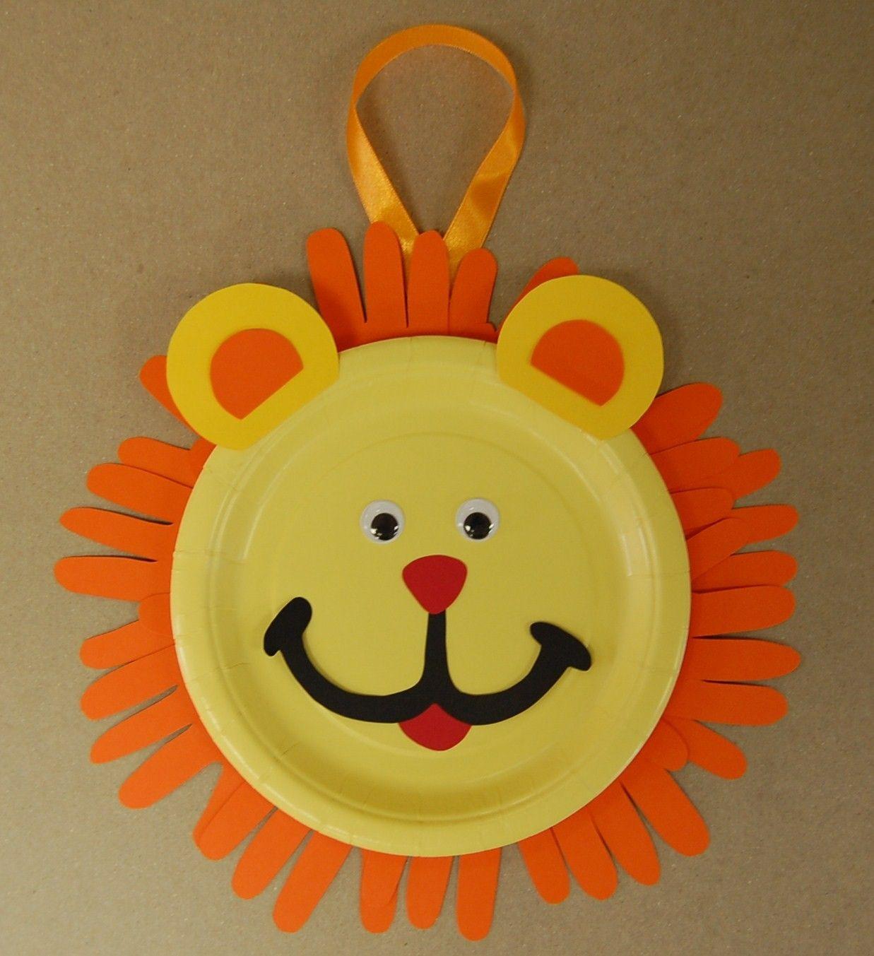 Clearance lion handprint keepsake craft kit keepsake for Lion crafts for toddlers