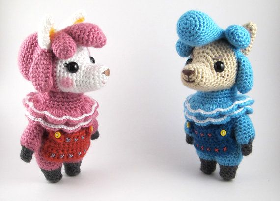 Animal crossing reese and cyrus the alpacas instant download animal crossing new leaf reese and cyrus the alpacas crochet patterns dt1010fo