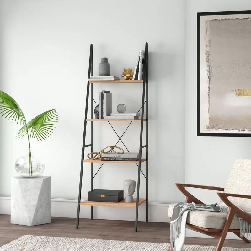 Almanzar Ladder Bookcase In 2020 Ladder Bookcase Bookcase