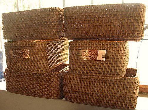 Canastas mimbre cestos y canastas pinterest - Cestos de mimbre ...
