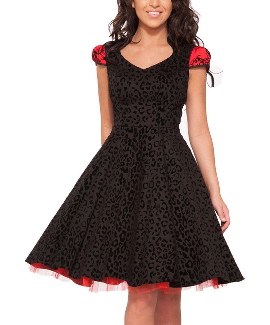 Look at this hearts u roses london black u red felina dress plus