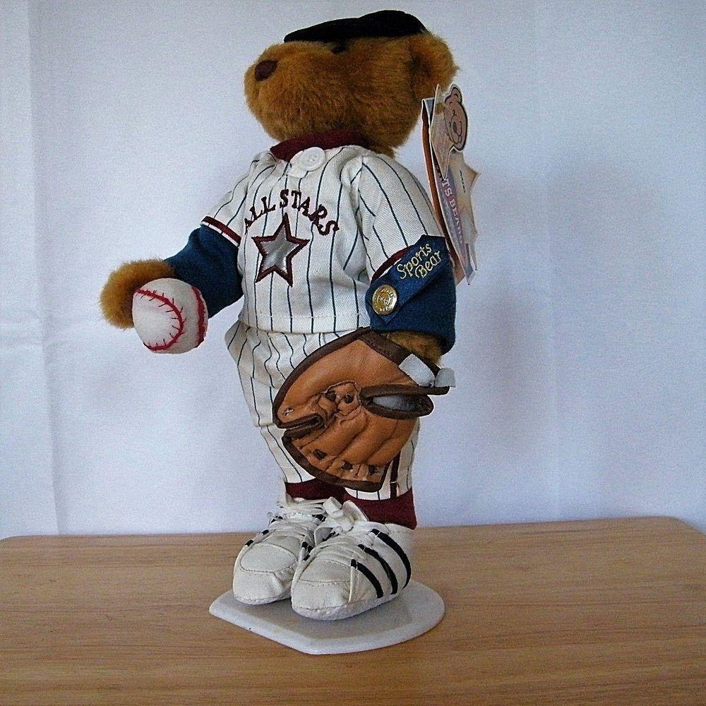 Brass Button Bear Baseball Sports Bear Ace Plush 2001 Brassbuttonbears Alloccasion Bear Collectibles Teddy Bear Plush Bear