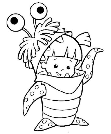 Monster Inc Coloring Pages // Páginas para colorear de Monster Inc ...