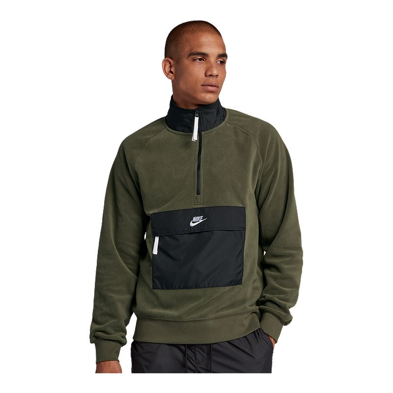 nike polar fleece 1/2 zip sweatshirt