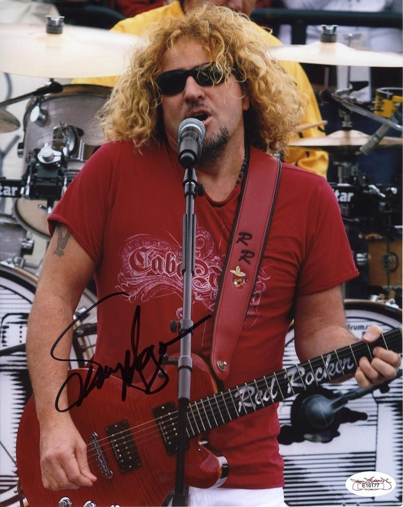 Sammy Hagar Signed 8x10 Photo Certified Authentic Jsa Coa Sammy Hagar Red Rocker Rock And Roll Fantasy