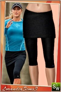 Performance fitting capri hits below the knee under a semi fitted skirt a revolutionary one shot option or those days to wear a skirt over leggings.
