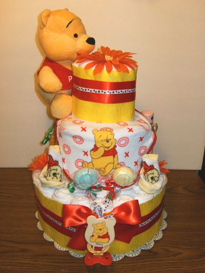 Superior Pooh Bear Diaper Cake