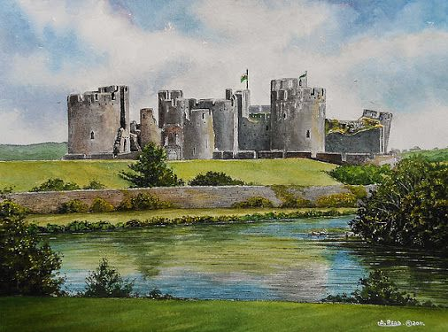 Search Water colour of Caerphilly Castle in Wales- Google+