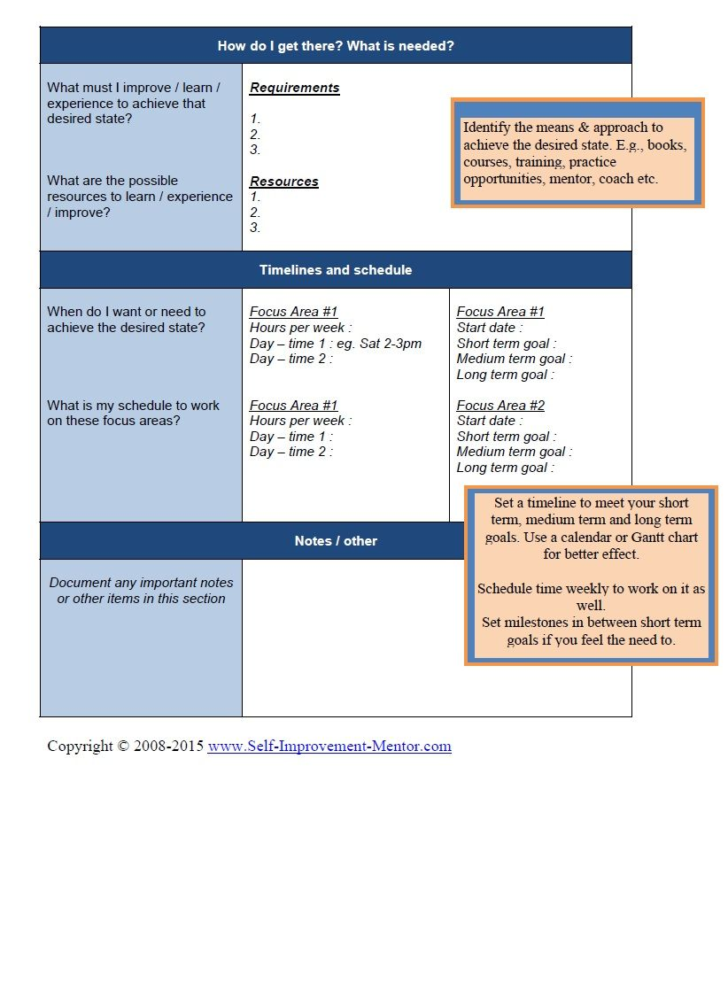 Personal Development Plan Template  Personal Development