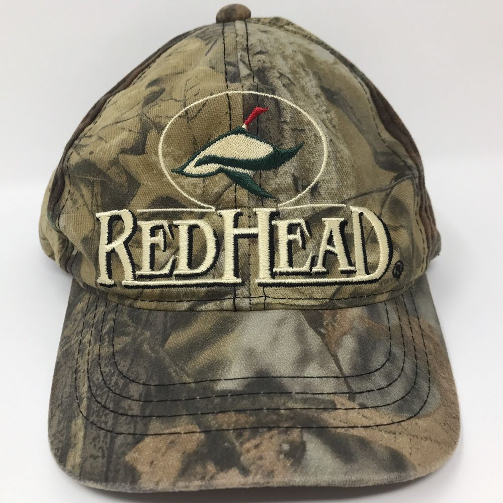 Red Head Camouflage Baseball Hat Cap Adjustable Hunting Duck Youth One Size   RedHead 1092430b26d3