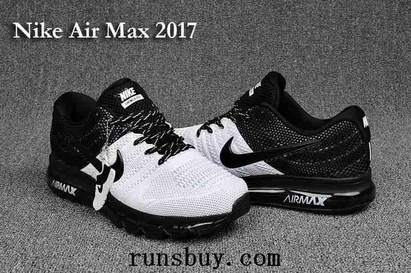 d749e125bb New Coming Nike Air Max 2017 3+ KPU Men Shoes Black White White Nike Shoes
