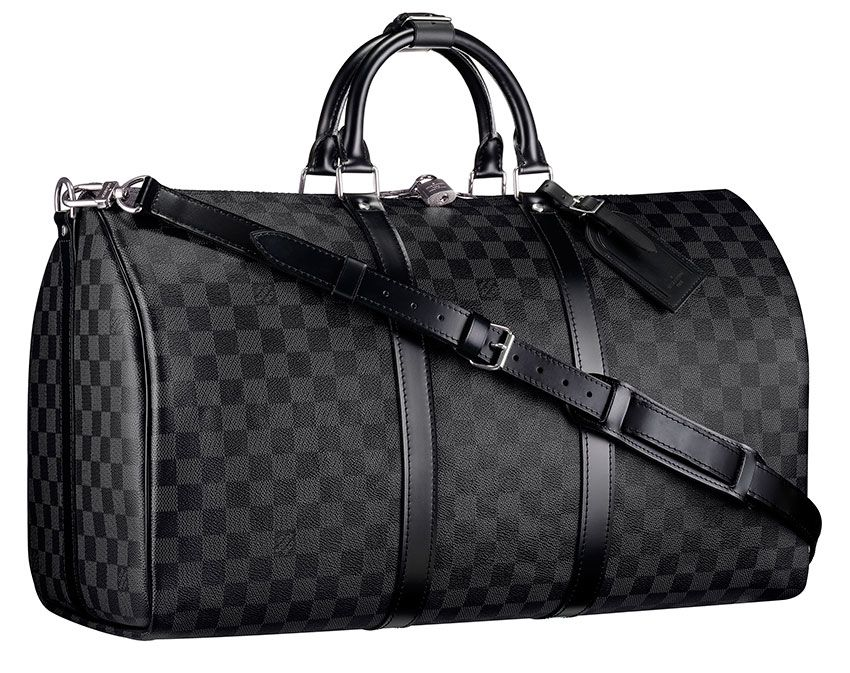 louis vuitton luggage black. louis vuitton keepall 55 with shoulder strap this urban travel bag in a revisited classic, damier graphite canvas, is not only stylish but also resistant luggage black l