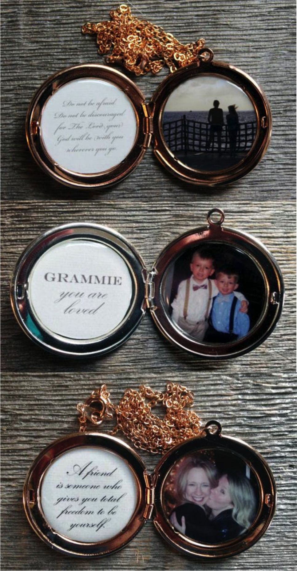 Thank that special woman in your life with this gorgeous custom photo locket. With a photo on the right and the inscription of your choice on the left, this sterling silver or rose gold plated locket makes a wonderful gift for spouses, mothers, grandmothers, sisters, or best friends. Perfect for mother's day, birthdays, and weddings, just send me your favorite image or photo and I will make a one-of-a-kind piece of jewelry just for you.