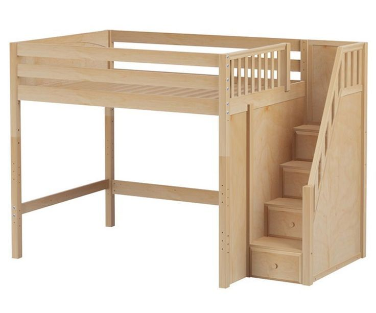 bed frame with stairs