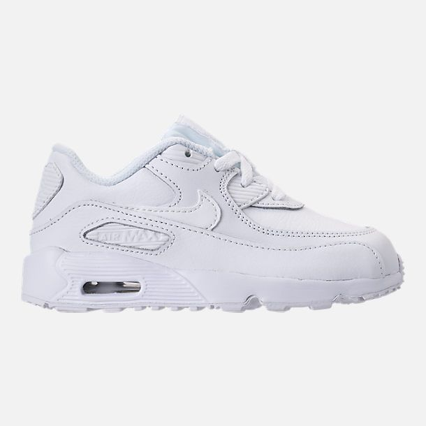 cca2542fc003 Right view of Kids  Toddler Nike Air Max 90 Leather Running Shoes in  White White