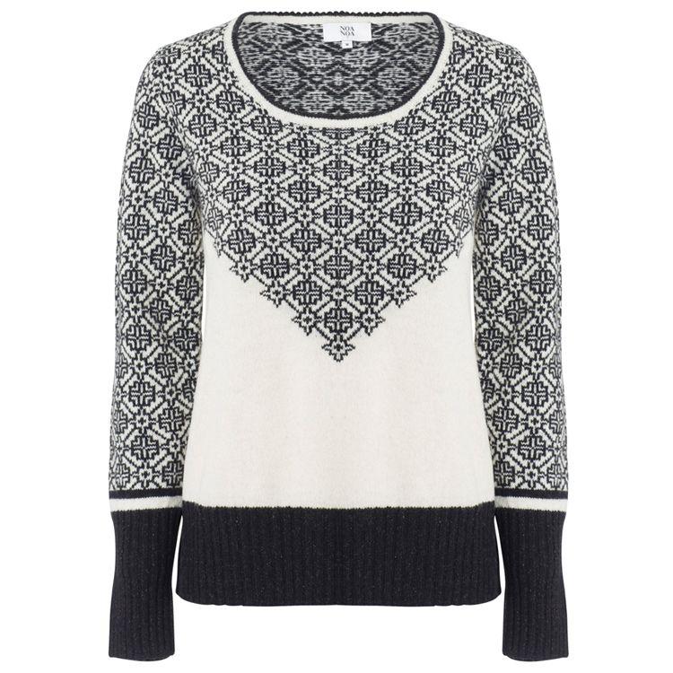 Noa Noa Jacquard Pullover with sparkly sleeves! http://www.sophieandrose.com/noa-noa-jumper-clothing-1-3030-1.html http://www.sophieandrose.com/noa-noa.html