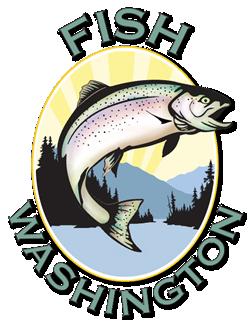 Fish Washington logo - tons of sports fishing information at