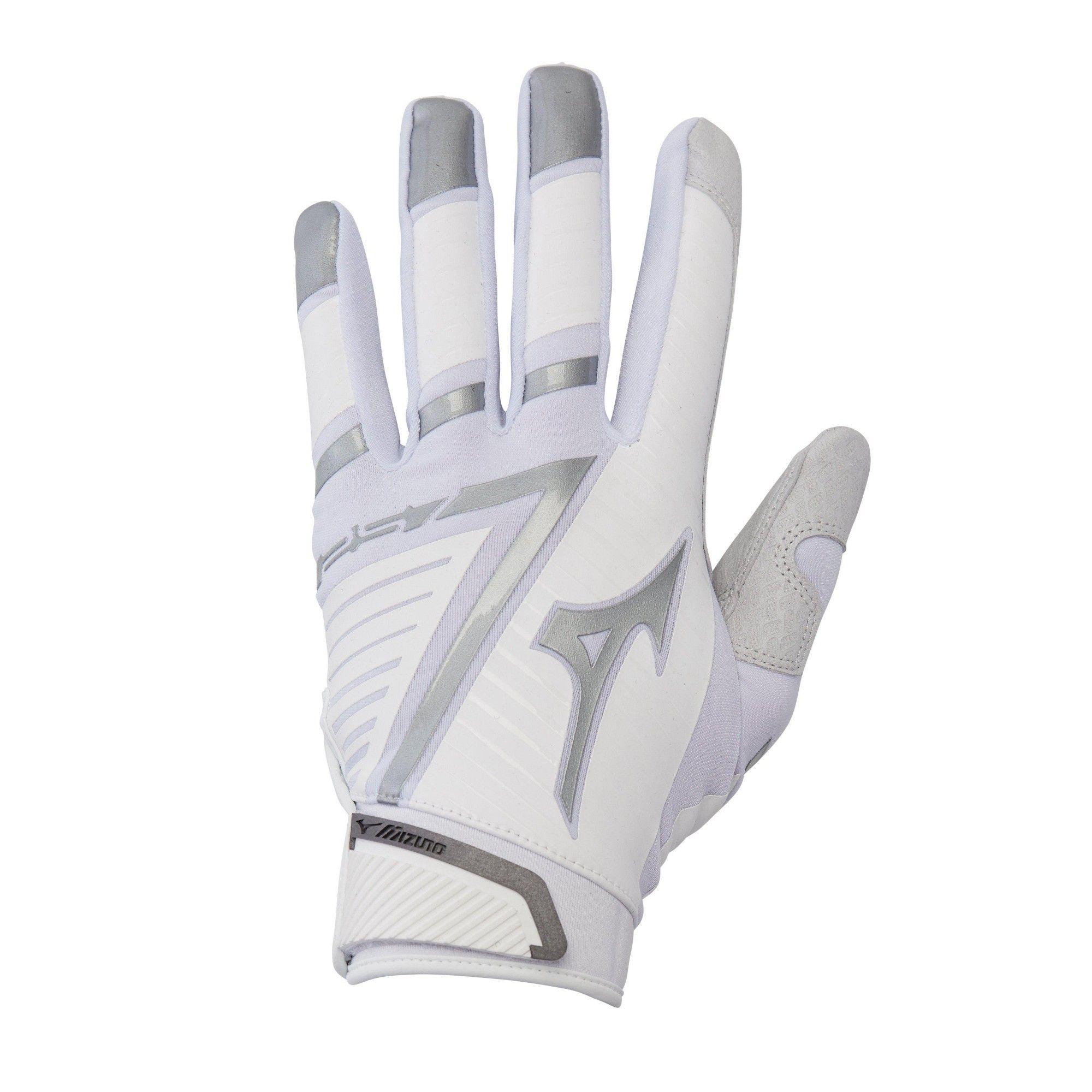 Mizuno Womens Softball Batting Gloves F 257 Women S Softball Batting Glove 330391 Size Large White Silver 0073 Batting Gloves Gloves Winter Gloves Women