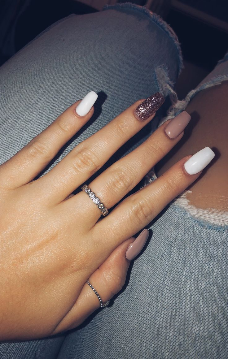 Photo of Rose gold gel nails long pink white rose gold sparkle – New Ideas