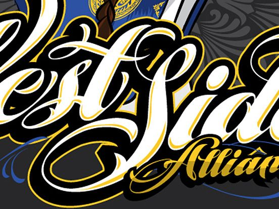 West Side Alliance Fonts Inspirations The Design Inspiration Westside Graffiti Lettering Fonts Font Inspiration