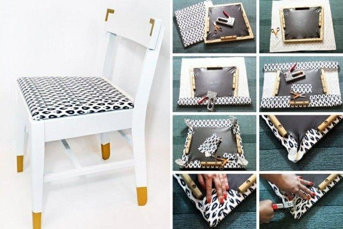 Awesome Einfache Dekoration Und Mobel Alte Stuehle Mit Hussen Aufhuebschen #9: ▷ 1001+ Ideen, Wie Sie Alte Möbel Aufpeppen Können | Alte Möbel, Weiße  Stühle Und Möbel Restaurieren