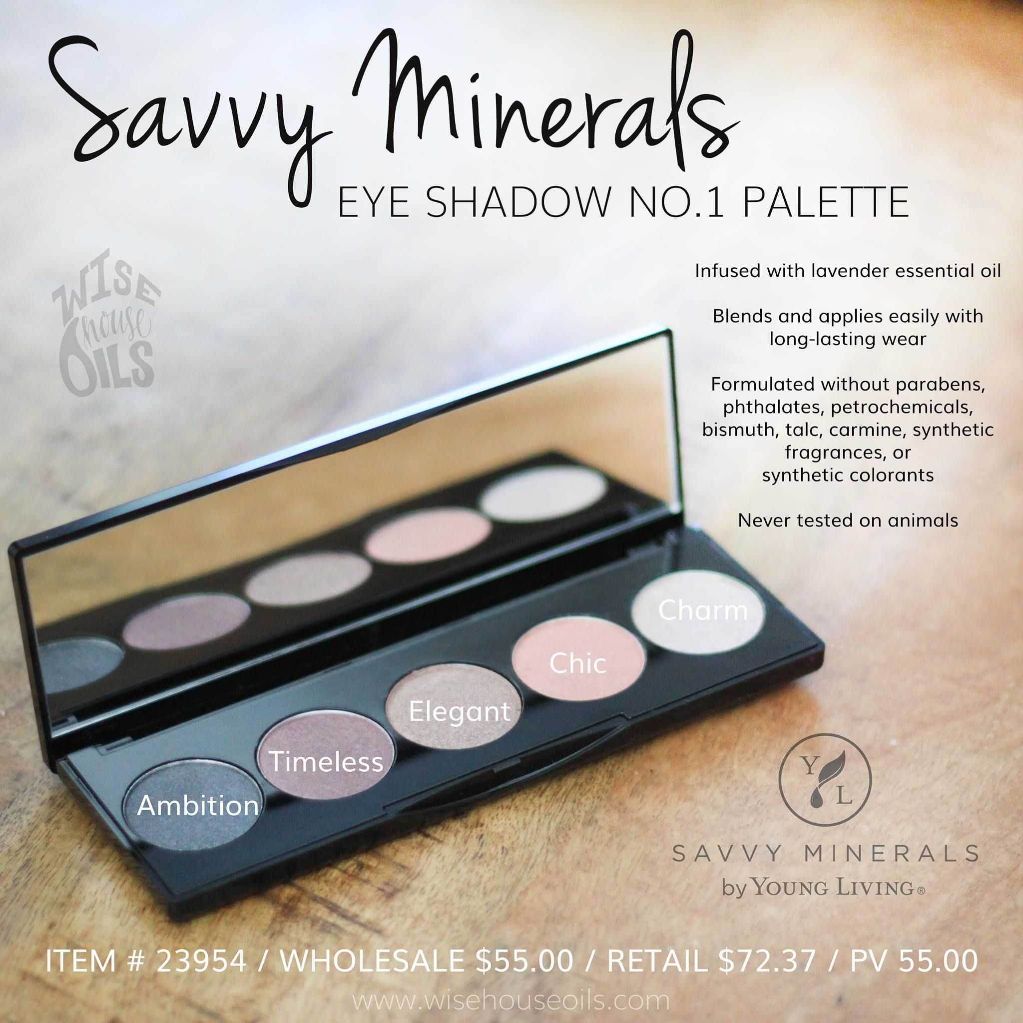 Young Living Essential Oils Savvy Minerals Make Up Eye