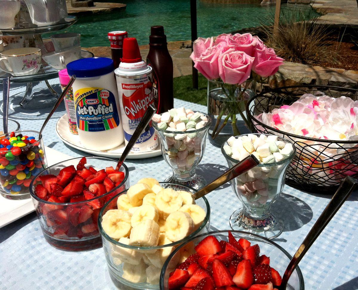 Make your own Ice Cream Sundae Bar..i love this idea for ...