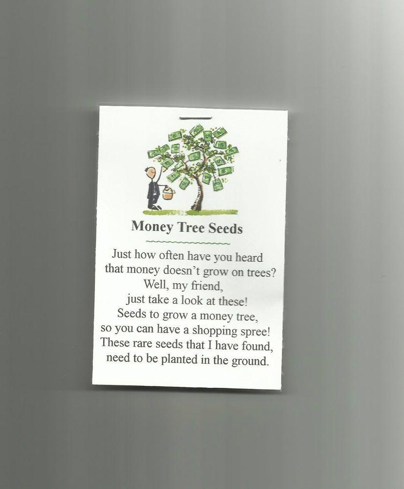 New Homemade Money Tree Seeds Novelty Gag Gift Prank Joke