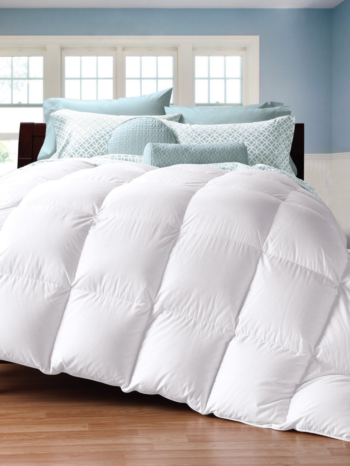 Amazon Com Cuddledown 450tc Down Comforter Queen Summer White