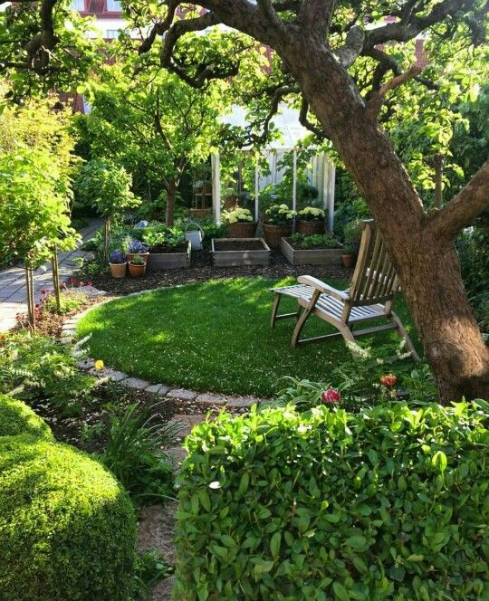 20 Raised Bed Garden Designs And Beautiful Backyard: Beautiful Backyard Raised Bed Garden Layout With Mulched