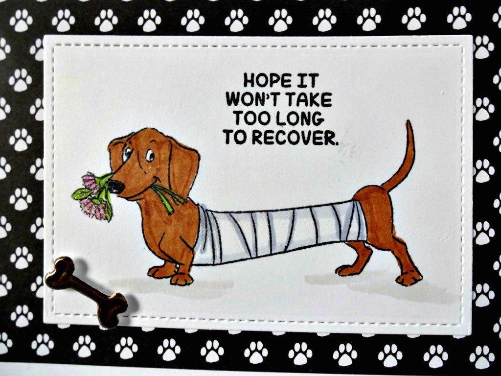 Cute Dog Cards Feel Better Soon Sending Hugs Dogs Card Greeting Card Handmade Cards Friend Get Well Get Well Handmade Get Well Card