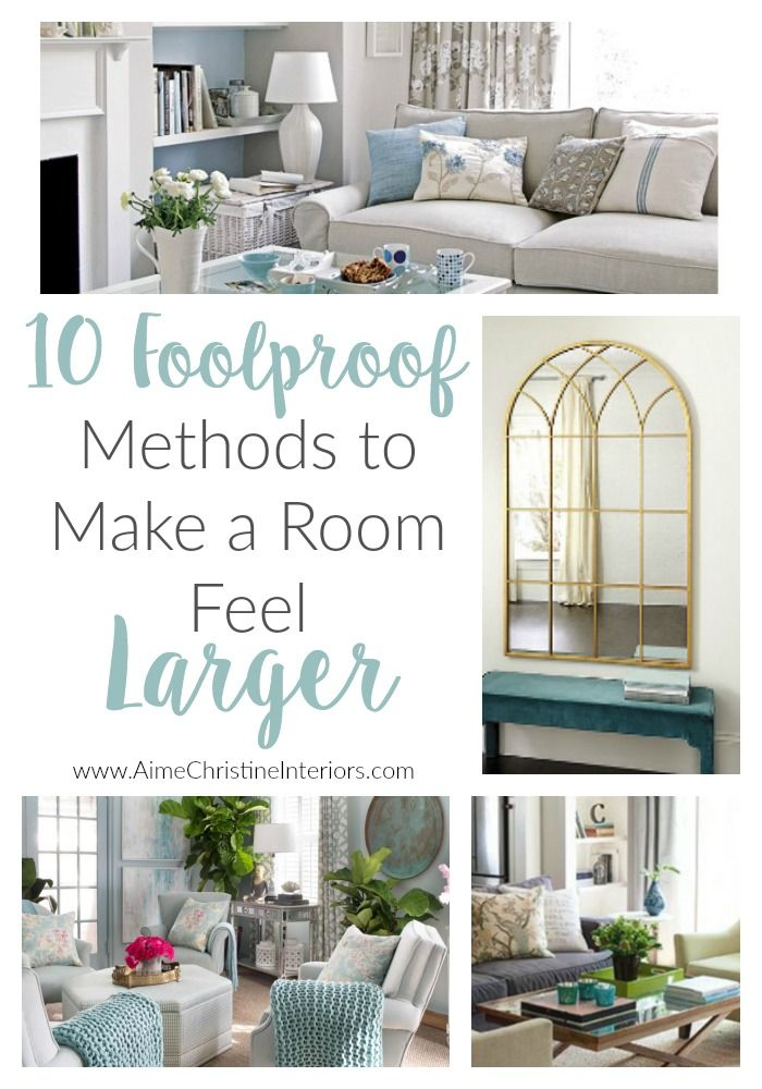Make a small room feel bigger in 10 EASY foolproof steps Willow