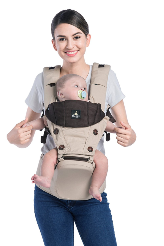 Abiie HUGGS Hip Seat Baby Carrier Healthy Sitting Position