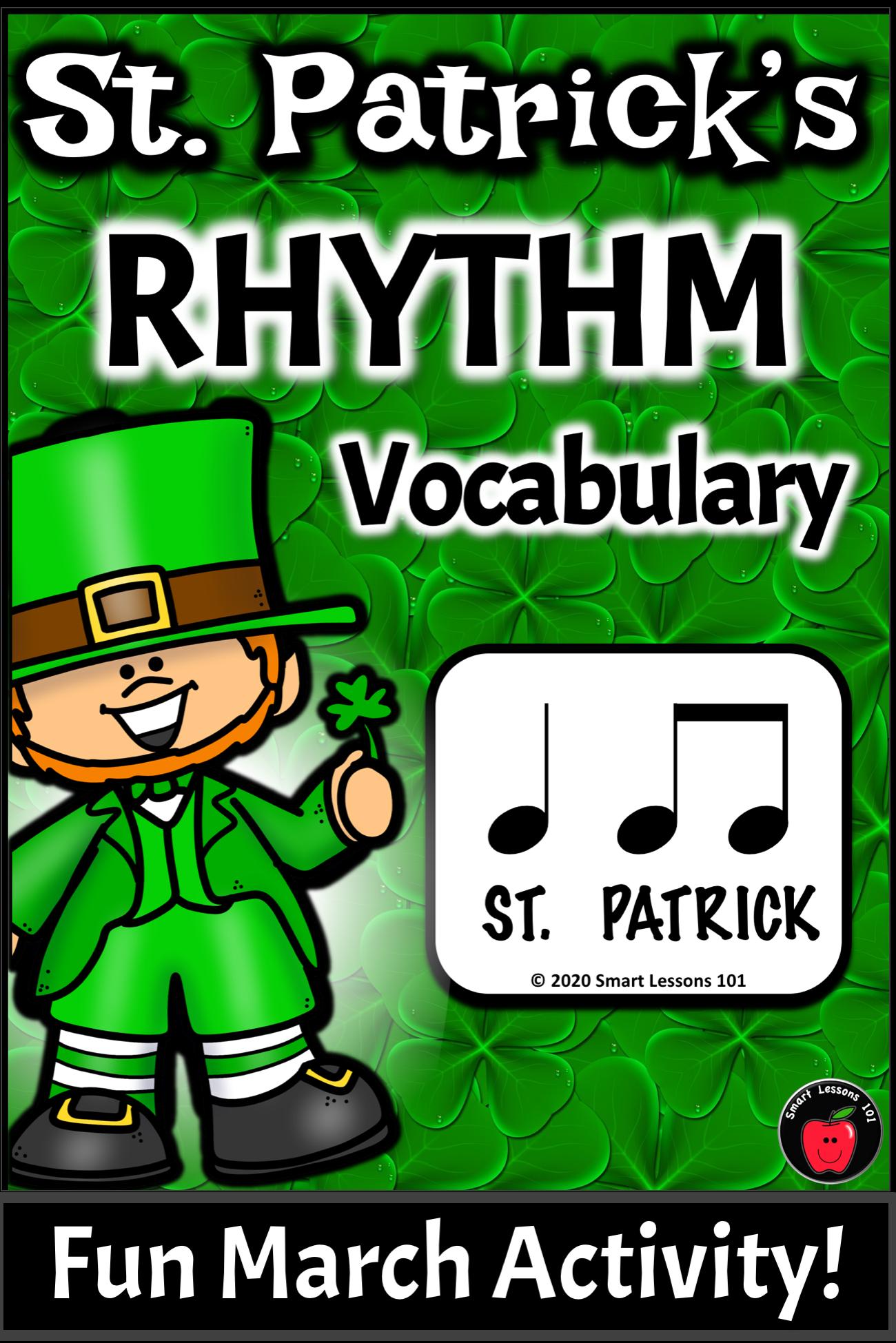 St Patrick S Day Rhythms St Patrick S Day Music Activity