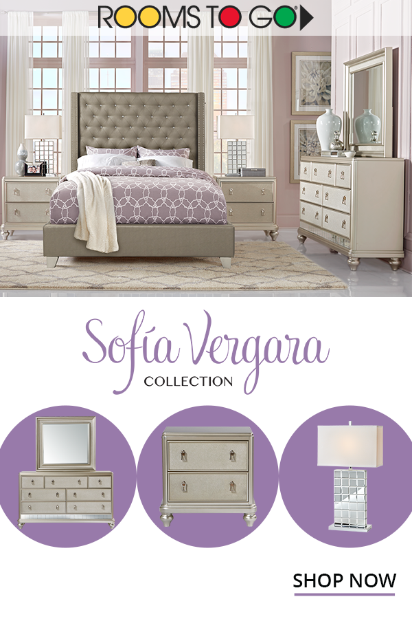 Elevate Your Home With The Rooms To Go Sofia Vergara Collection Of